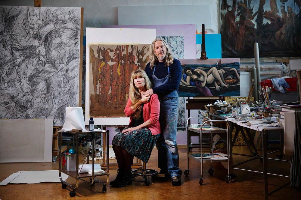 Devant de faux Beckmann, Matisse et Kandinsky | Source : Paris Match |  Crédits : Baptiste Girourdon