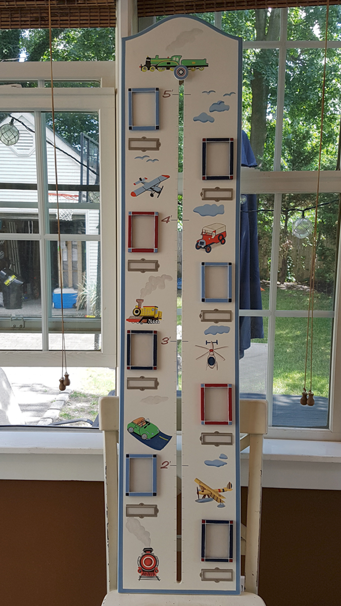 - Boys Picture Frame Growth Chart