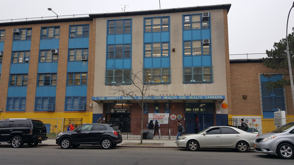 The School for Classics is located on the top floor of a junior high building in East New York, Brooklyn.