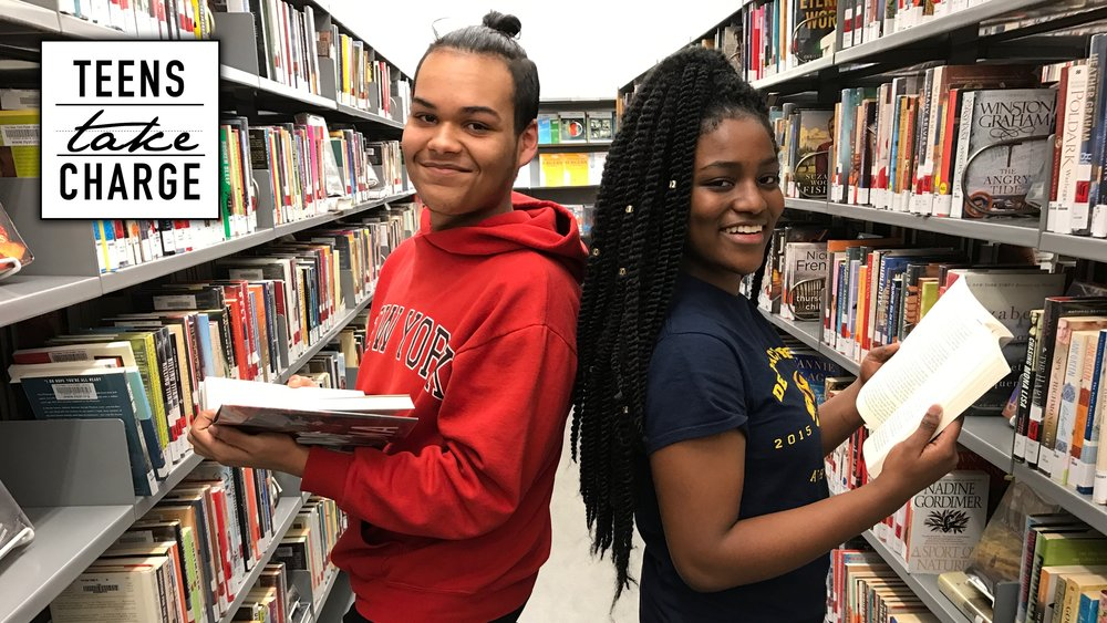 Nelson (left) and Whitney (right) are rising seniors at Democracy Prep Charter High School in West Harlem. They, along with their graduating classmate Ashé, helped kickstart the student-led group  Teens Take Charge .