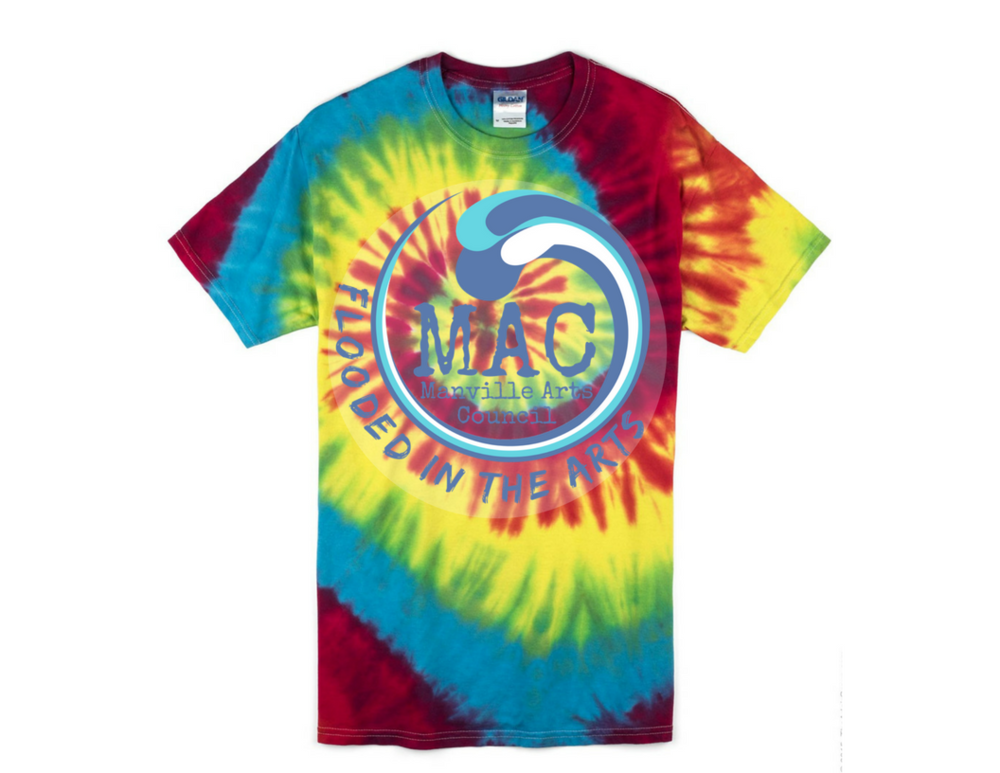 Sample of what your shirt may look like after it is tie dyed.