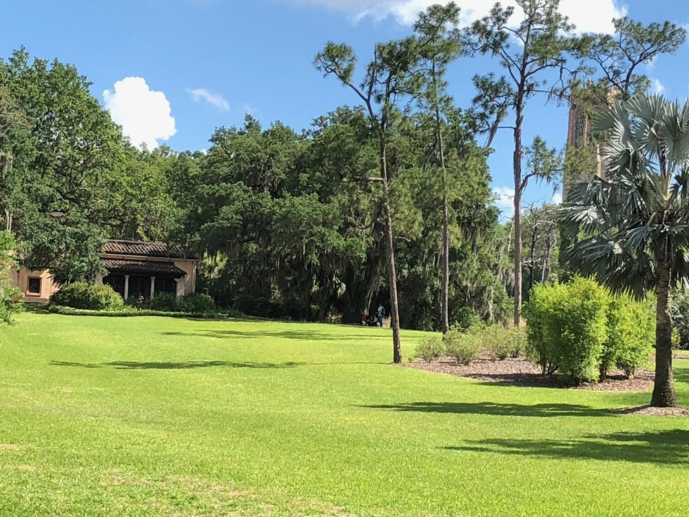 View of Pinewood Estate Home and Bok Tower (Photo: Jim Intriglia)