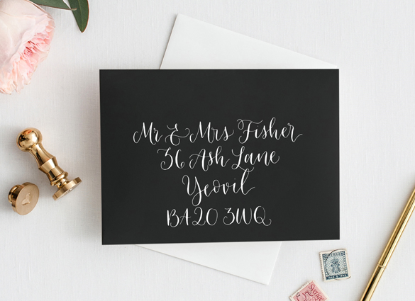 Calligraphy envelope addressing
