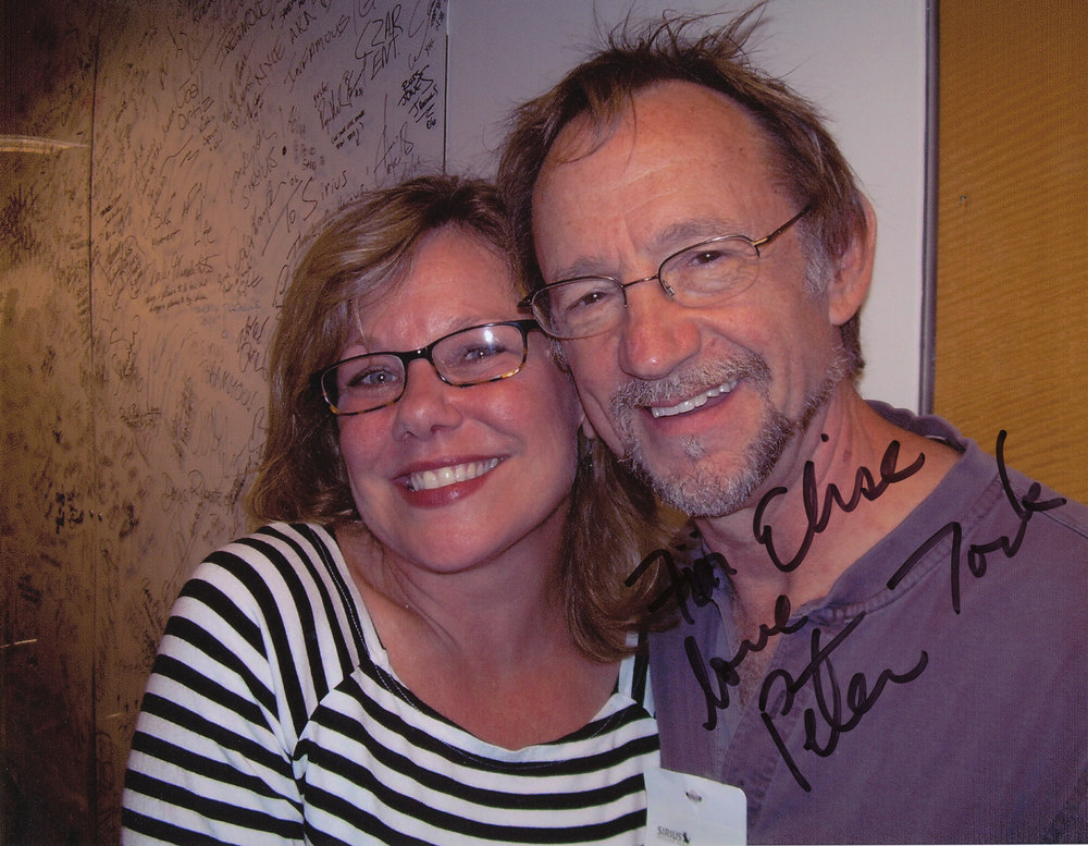 While with Sirius Satellite Radio: With Peter Tork of The Monkees