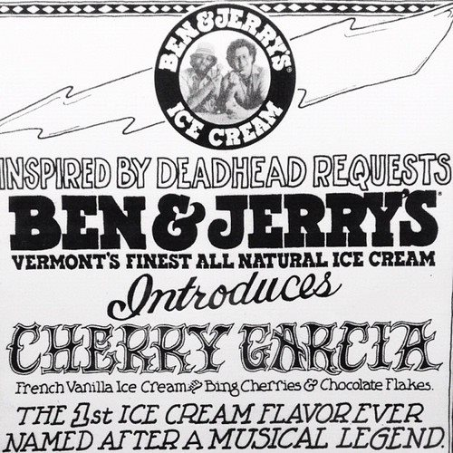 Original ad used for launching Ben & Jerry's groundbreaking flavor Cherry Garcia