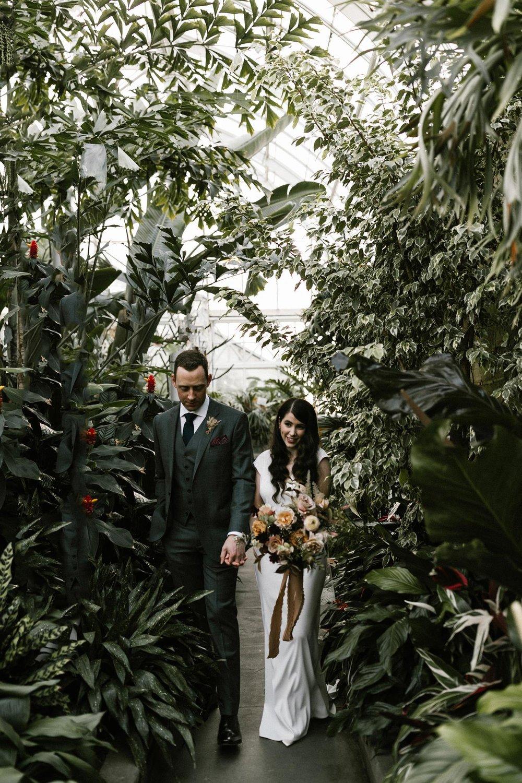 seattle washington wedding photographer intimate conservatory elopement
