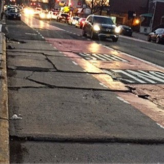 Deteriorating road conditions on Main Street and 58th Ave in #Flushing #Queens #nycdeservesbetter