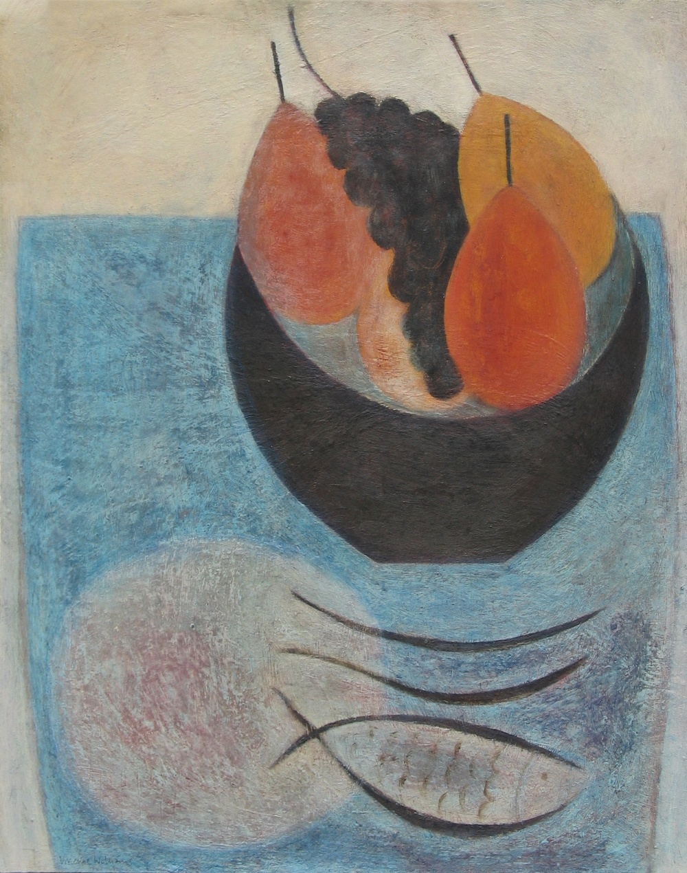 Fruit Bowl and Fish, 51cm x 41cm, 2014