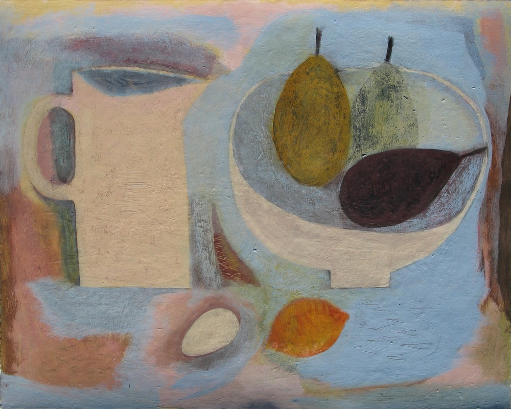 Jug with Fruit Bowl, Egg and Lemon, 41cm x 51cm, 2011
