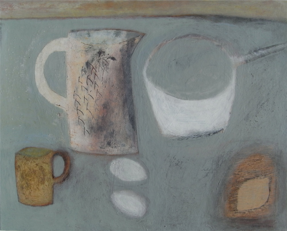 Still Life with Jug and Saucepan, 41cm x 51cm, 2009