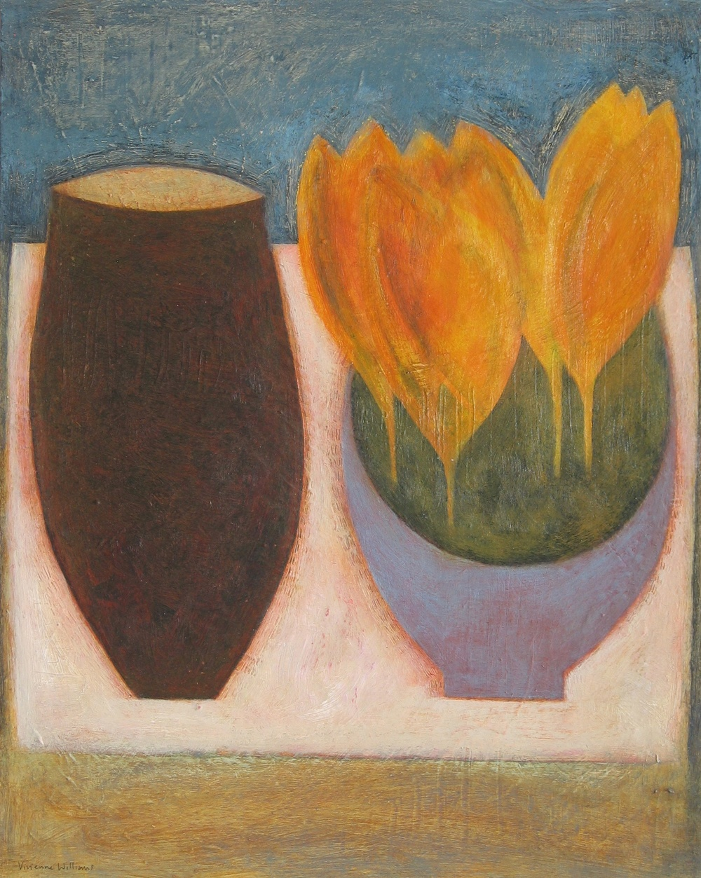 Jar with Yellow Crocus, 51cm x 41cm, 2012