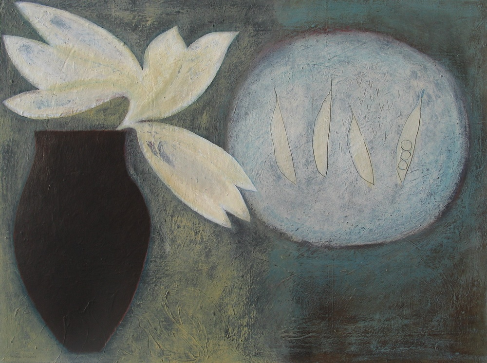 Lilies and Peas, 46cm x 61cm, 2007