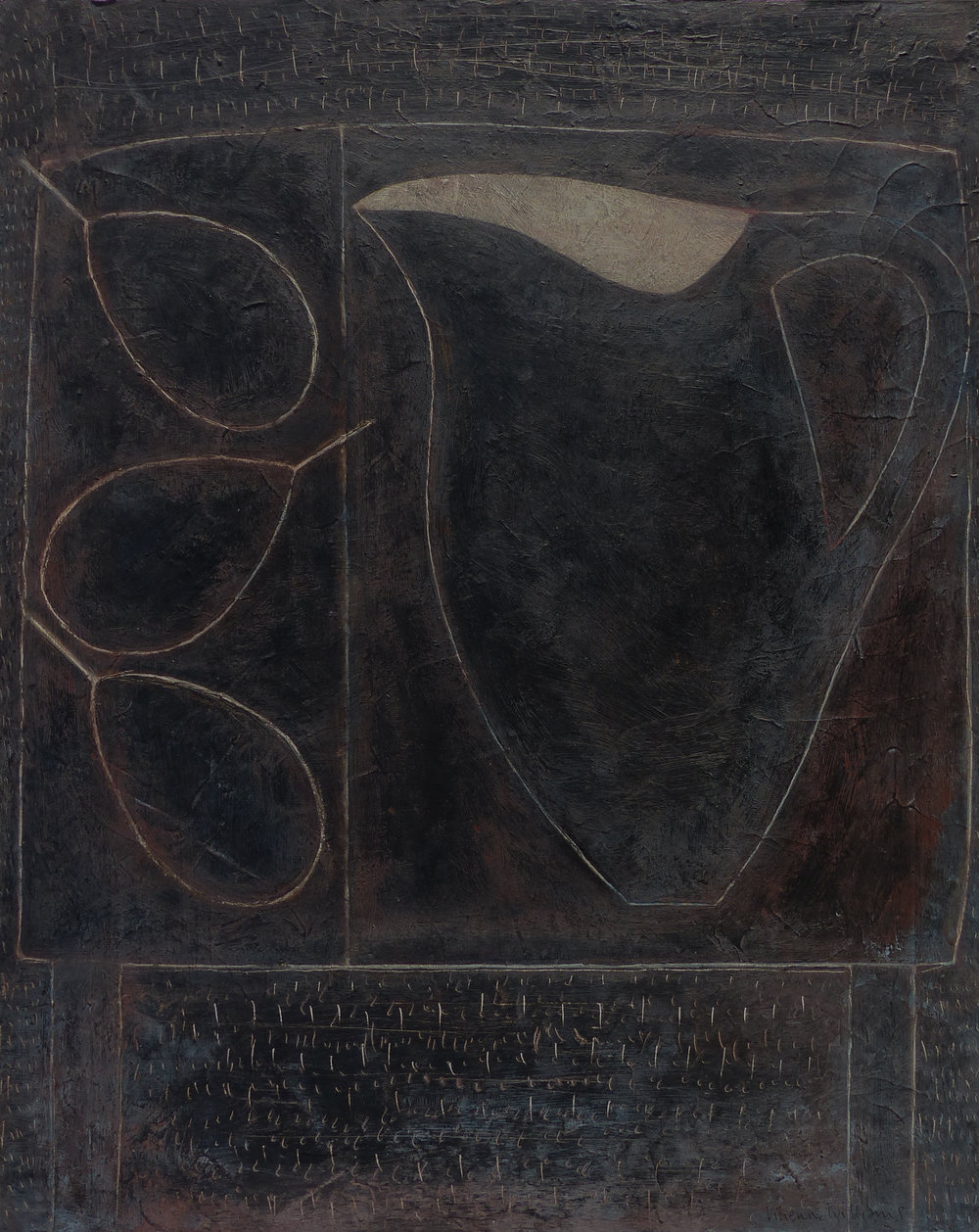 Blackboard Jug and Pears, 51cm x 41cm, 2018