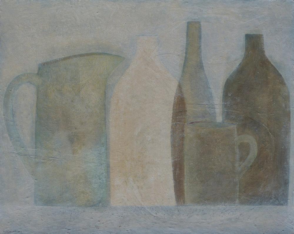 Pale Vessels, 41cm x 51cm, 2017