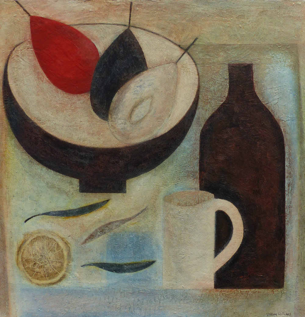 Still Life with Red Pear, 42cm x 40.5cm, 2017