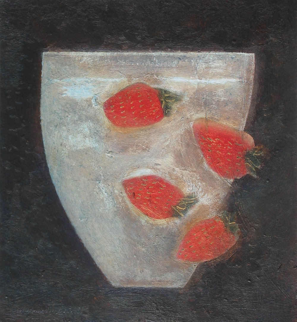 Strawberry Bowl, 24cm x 24cm, 2014