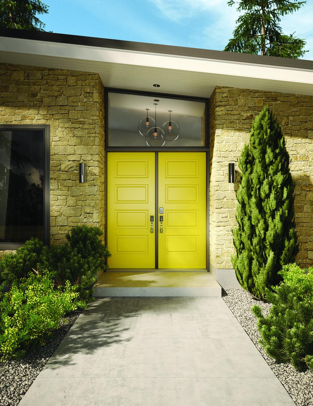 Madero Soho shaker steel panelled doors