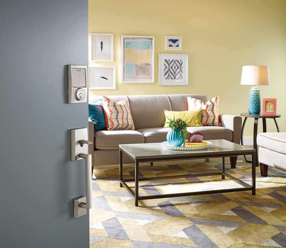 Schlage Sense™ Smart Deadbolt with Century trim in Satin Nickel finish