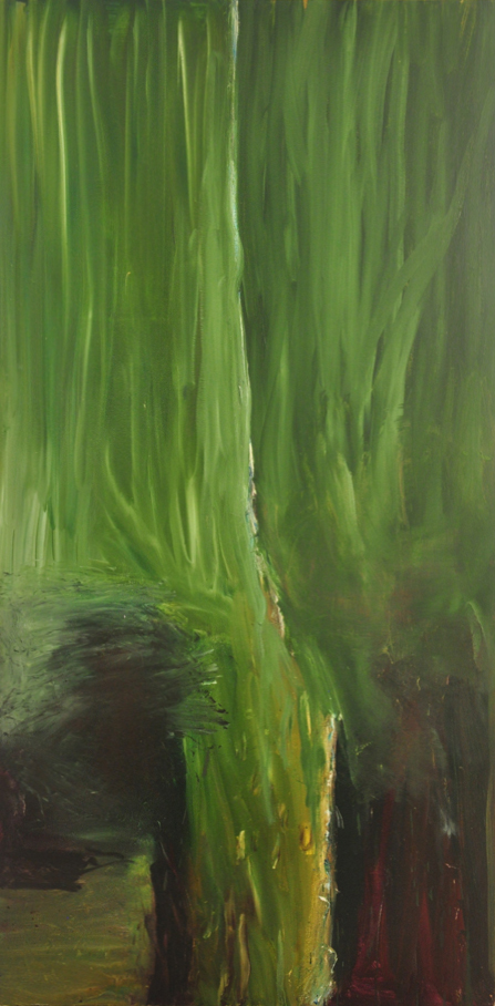 Werner's Painting, 2015, Oil On Canvas, 72 x 36 Inches