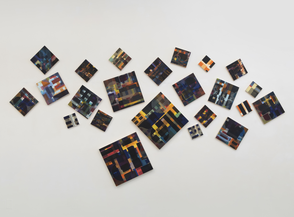 Scatter, 2015 Wall installation, 7 x 15 feet