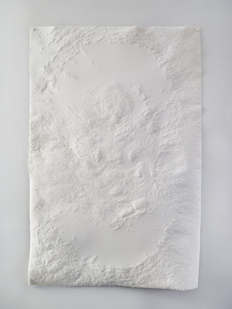 Afterimage III , 2015 Punctured paper, 48.5 x 32 inches