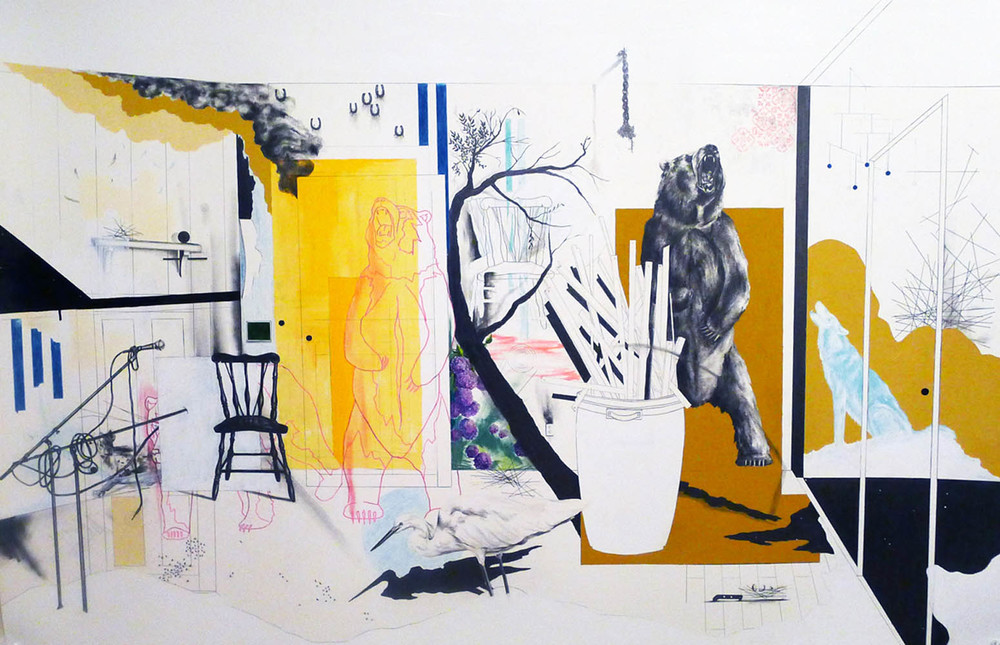 Your Last Breath , 2012 Mixed medium on paper, 40 x 60 inches