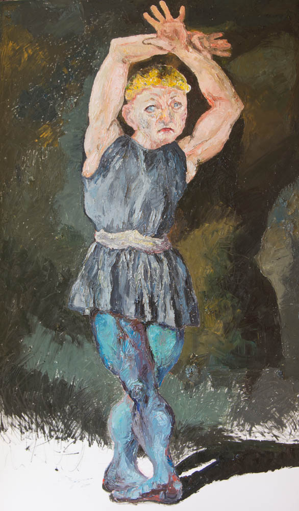 Dancer , 2015, Oil on canvas, 52 x 38 x 2.5 inches