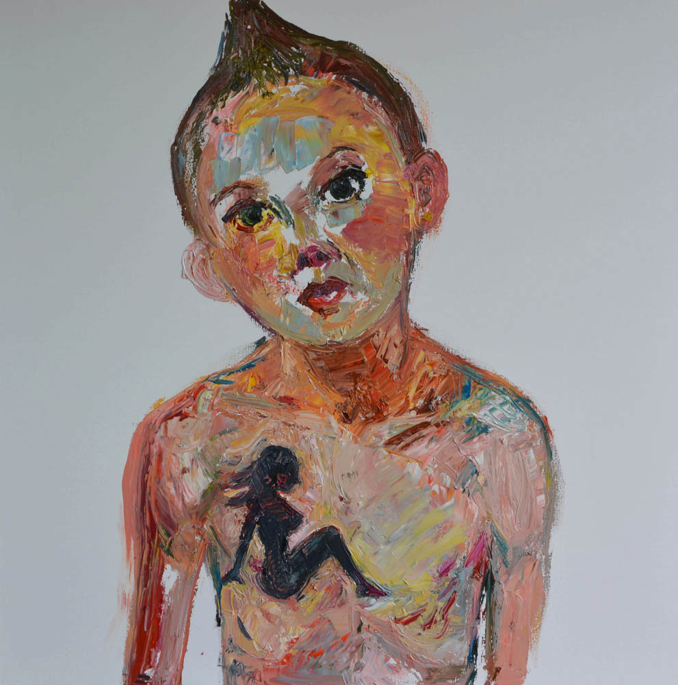 Tough Girl , 2015, Oil on linen, 36 x 36 inches
