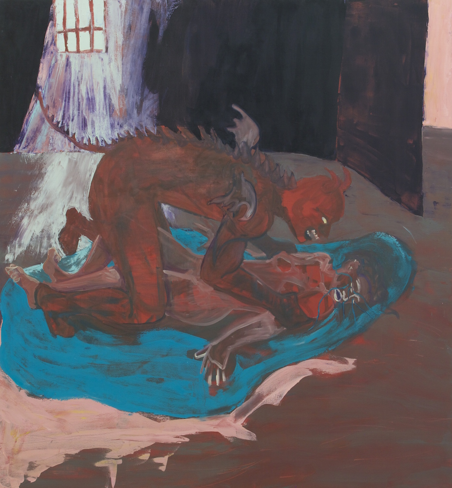 The Devil You Know , 2013, Oil on canvas, 6 x 5.5 feet