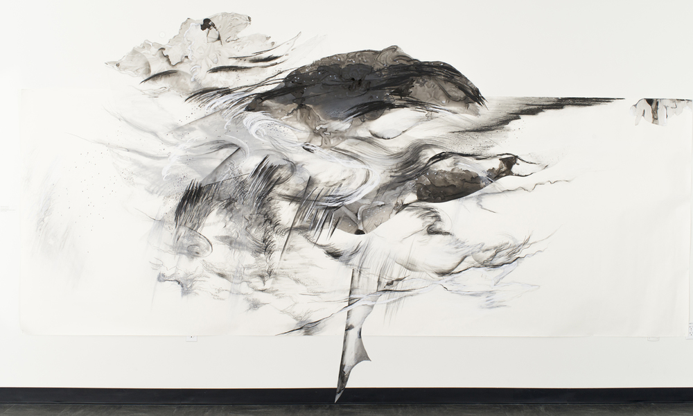 Increasing Cloud , 2011, Graphite, pastel, oil bar on paper and mylar, dimensions variable