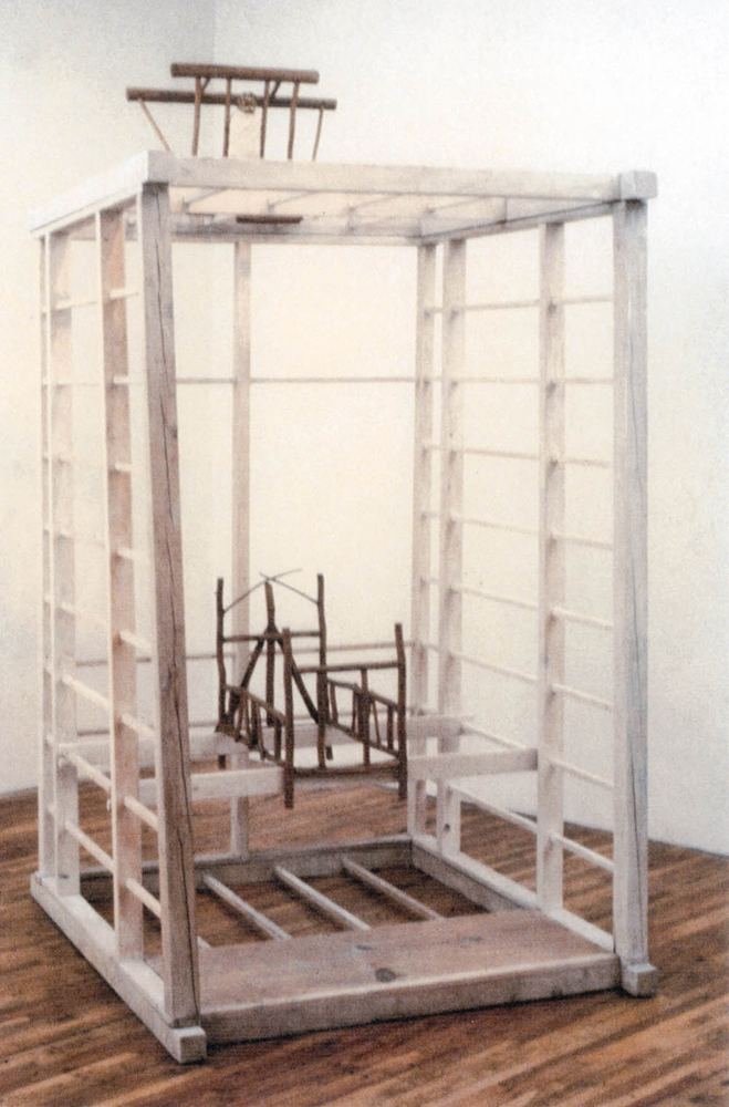 Evensong,  1983, Wood, 9 x 4 x 6 feet