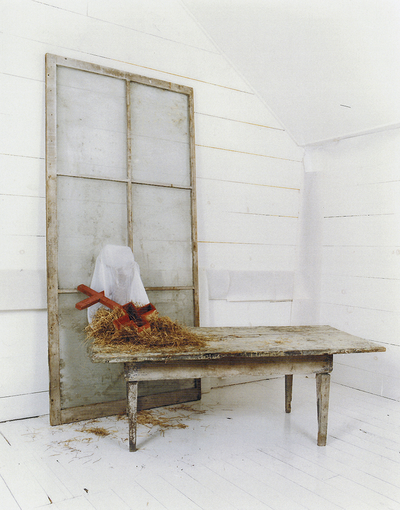 DressedInWhite , 2012, Mixed media, 64 x 92 x 102 inches