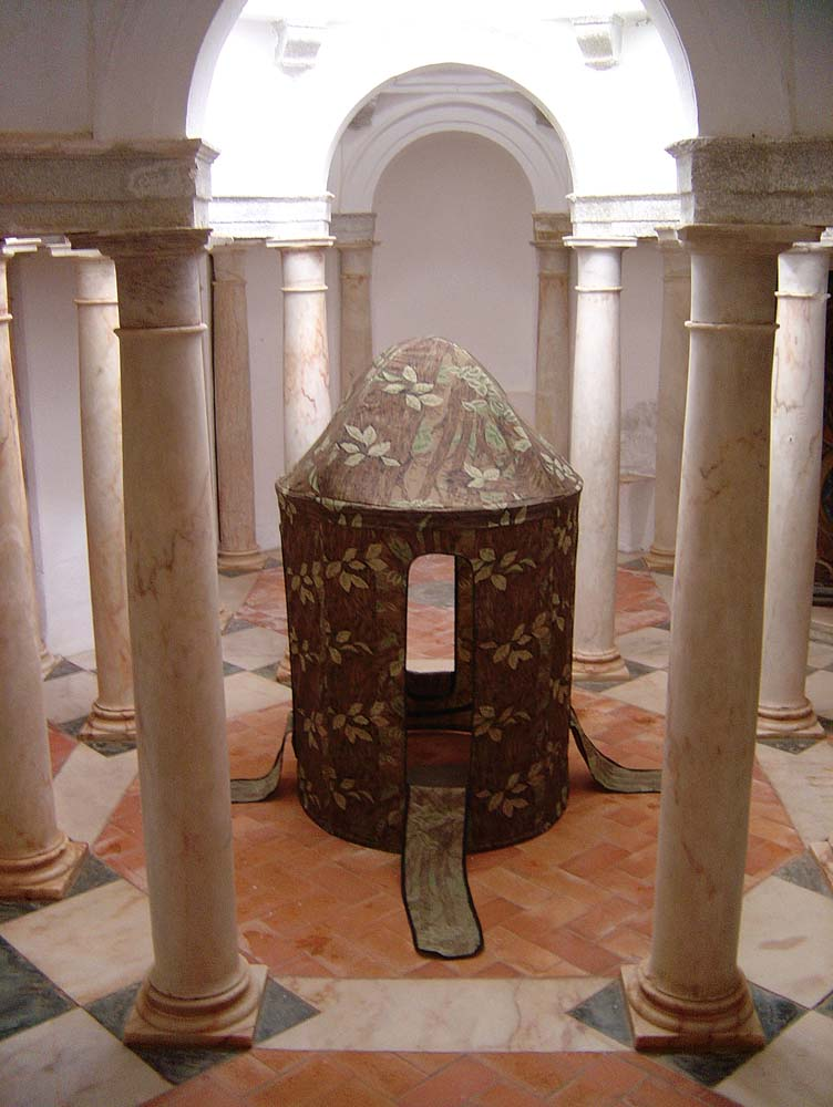 Blind Series,  2006-9, performance tableaux in 15th c. Portuguese convent, 7ft. x 3 ft. x 3 ft. (central structure)