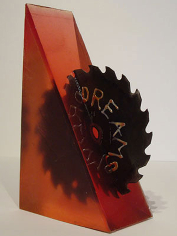 "Dreams    ,  2010  , cast Silicone w/inclusions,   11""H x 7""W x 3""D"