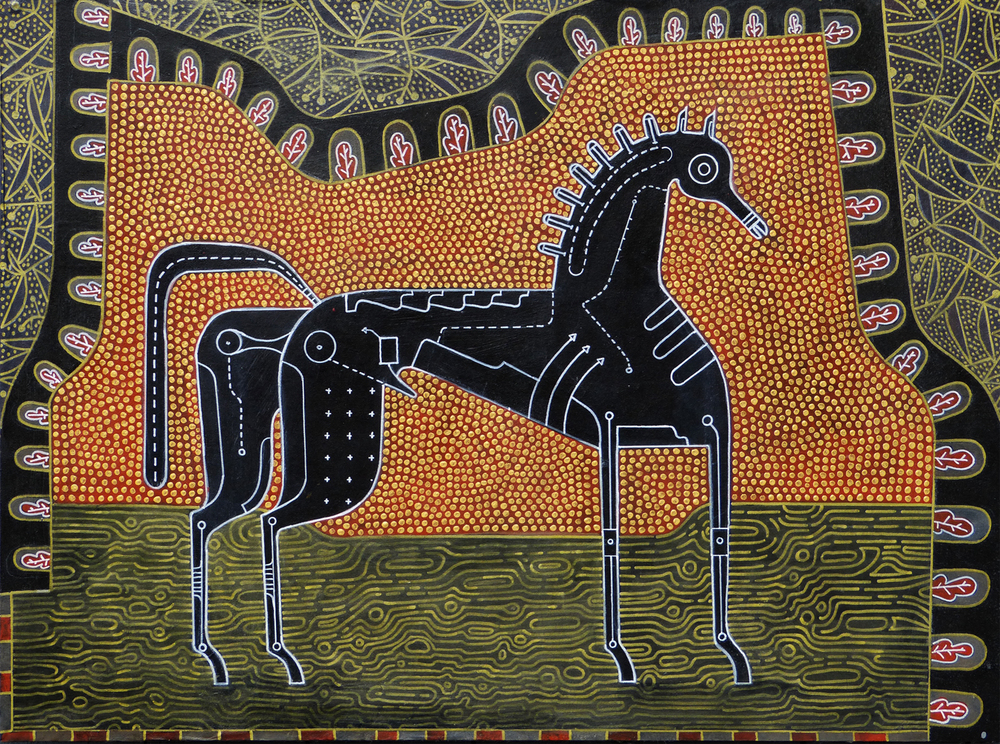 Show Horse 1 , 2013, Acrylic on panel, 22 x 30 inches