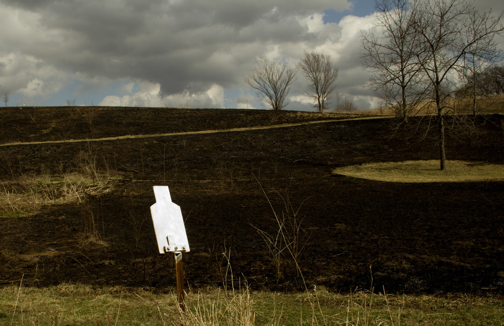 Target After the Burn , 2011, Digital photo file, Epson print, 18 x 30 inches