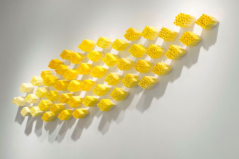 Zest , 2007, 1,020 rolled rice papers, 47 x 110 x 5 inches