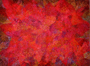 Symphony in Red, 2013, Acrylic paint on canvas, 102 x 76 inches