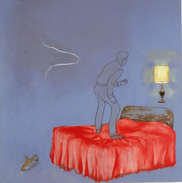 For My Husband , 2002, Oil on canvas, 36 x 36 inches