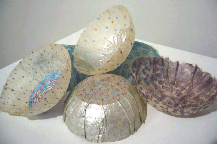 Small Jellyfish, 2003, Mixed media drawings, 4 x 4 x 3 inches