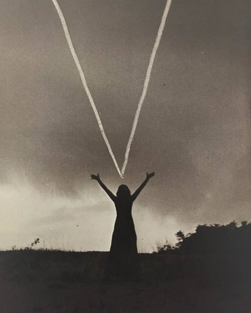 Mary Beth Edelson, Woman Rising, 1974, Outer Banks, North Carolina