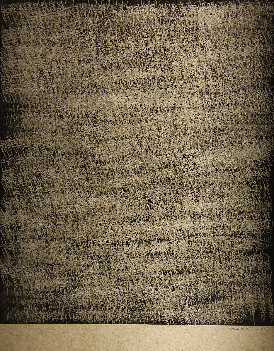 Record #01 , 2015, Carbon paper, 11 x 8 inches