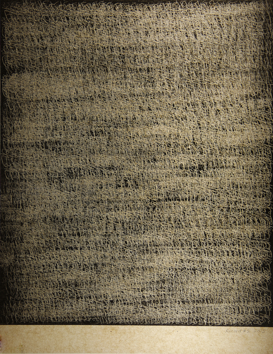 Record #02 , 2015, Carbon paper, 11 x 8 inches