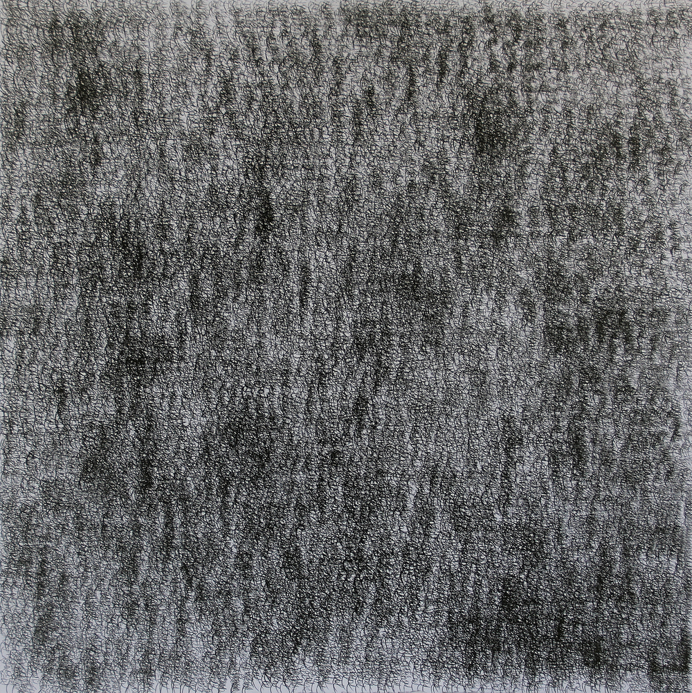 IMG II , 2016, Stonegenge, carbon paper, 22 x 22 inches