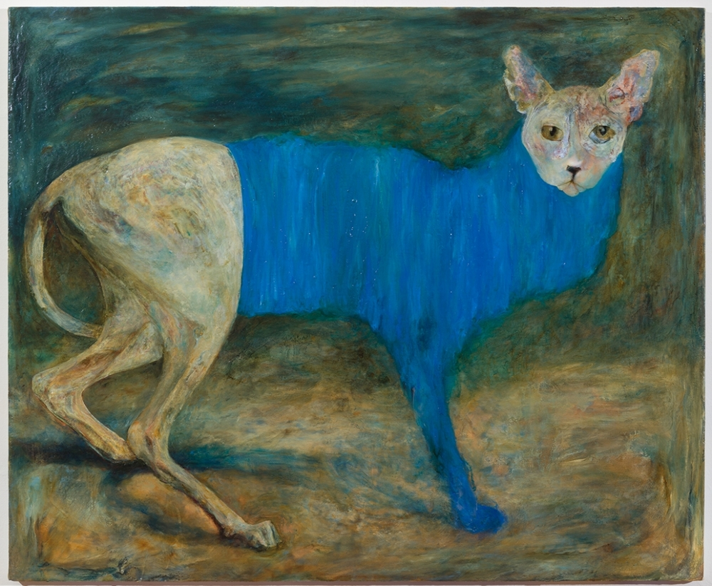 Comfort Animal: Blue Onsie , 2015, Oil on linen, 23 x 28 inches