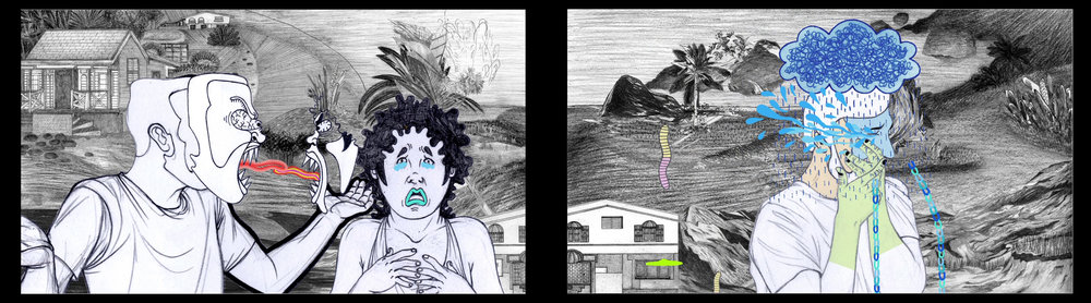 In Time, 2013, Animated drawings, variable screen sizes
