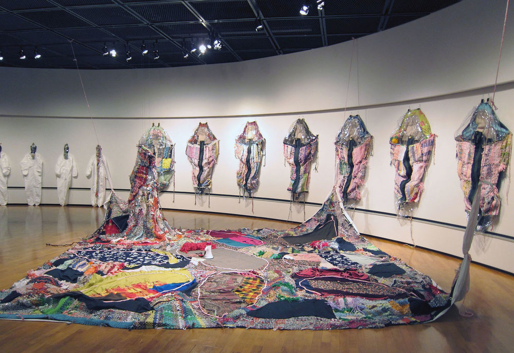 Runningaway Furoshiki, 2013, Mixed media installation/performance, dimensions variable