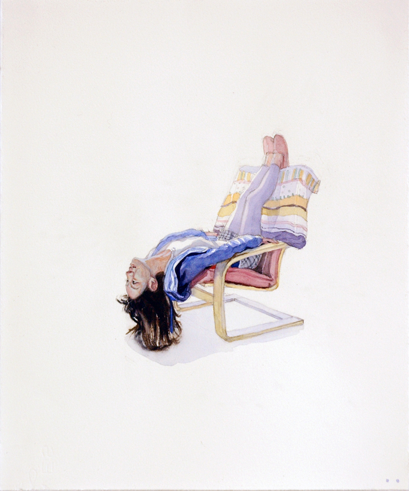 Chair Project- Stasia, 2014, Watercolor and pencil on paper, 11 x 13 inches