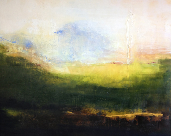Sommerville , 2014, Mixed media on wood panel, 42 x 54 inches