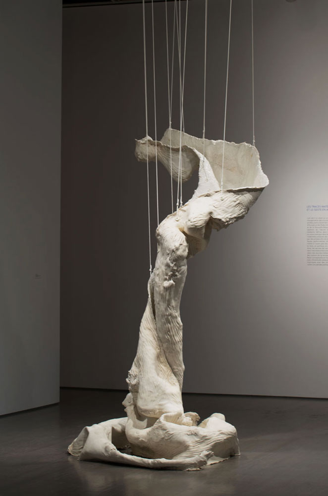 The Climb is also the Fall, 2011, Silicone, rubber, glass matting string, polymorph plastic, 91 x 51 x 51 inches